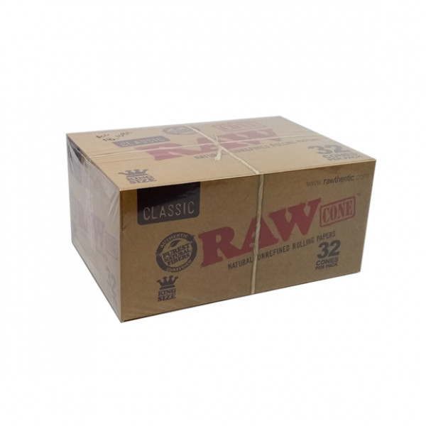 Rolling Papers Cone Raw 1 1/4 Natural Unrefined 32cones