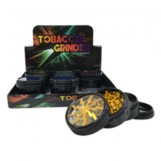 Grinder Aluminum 4pc w/Lighting Design Clear Top Mix Color