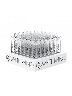White Rhino Fat tall chillums 49 in box