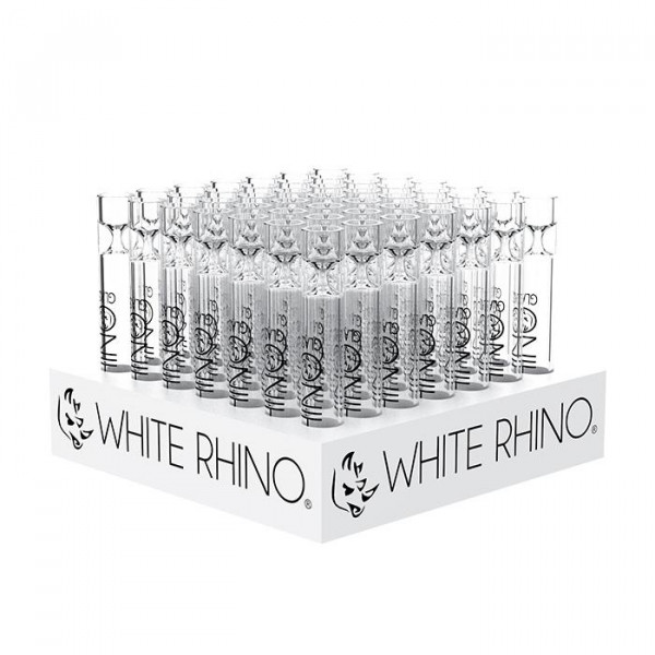 White Rhino Fat tall chillums 49 in box