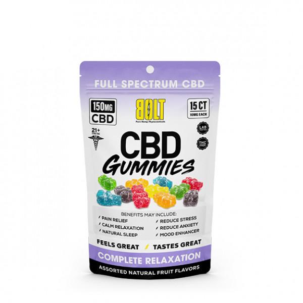 Bolt cbd Gummies 15ct (perbag)X 12perbox (Mult CBD Cont)