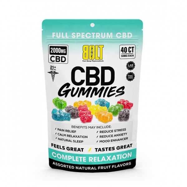 Bolt cbd Gummies 40ct (perbag)X 6 perbox (Multiple CBD Contents)