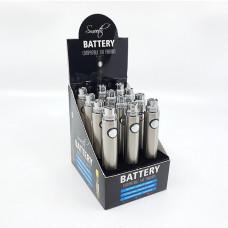 Smooth Battery 650mah silver display (per box)