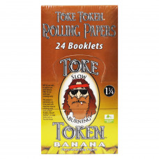 Rolling Papers Toke Token Banana Flavored 1 1/4