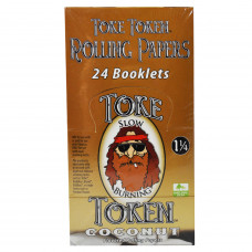Rolling Papers Toke Token Coconut Flavor 1 1/4