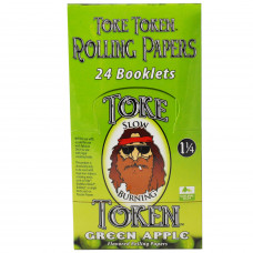 Rolling Papers Toke Token Green Apple Flavor 1 1/4