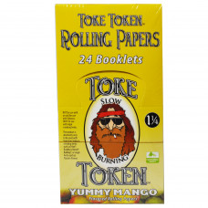 Rolling Papers Toke Token Yummy Mango Flavor 1 1/4