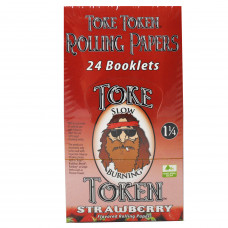 Rolling Papers Toke Token Strawberry Flavor 1 1/4