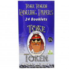 Rolling Papers Toke Token Blueberry Flavor 1 1/4