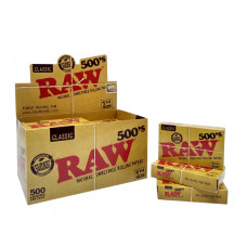 Raw Natural 500's Papers 1 1/4 20/Box