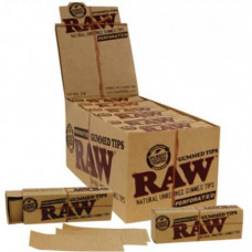 Tips Raw Natural Unrefined Gunned Tips Preforated 24/box