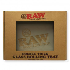 Raw large Frosted Glass Tray