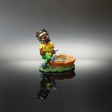 Ashtray Ceramic Smoking Rasta Guy W/Leaf