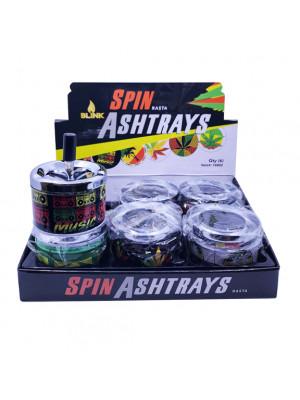 BLINK  Spin Away Ashtray Leaf #2 6pc/Box