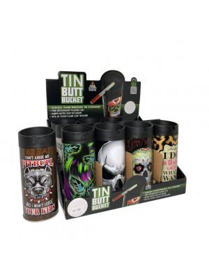 Tin Butt Bucket Mix 12pcs/Display set