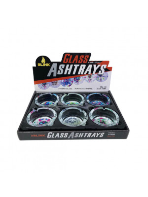 BLINK GLASS ASHTRAY-CANDY SKALL By BOX