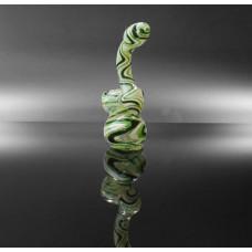 """Bubbler 5"""" Green, White & Black Strips"""