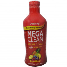 Detoxify Mega Clean 32oz Bottle Tropical Fruit Flavor