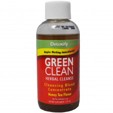 Detoxify Green Clean 8oz Bottle Honey Tea Flavor