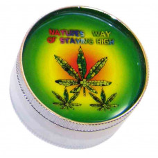"Grinder 2.5"" 2pc With Assorted Leaf Designs."