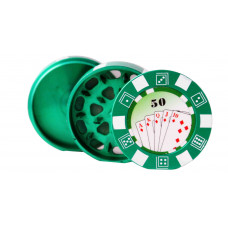 "Grinder 3pc 2.5"" Poker Chip Asst Colors"
