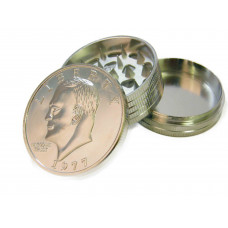 "Grinder Aluminum  2"" 3pc w/ Screen In Coin Design"