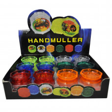 """Grinder Plastic 2pc with 2"""" Diameter Assorted Color"""