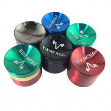 Grinder Metal 4pc 56mm Sunken Shape Viking Axe Mix Color