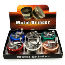 Grinder Metal 3pc W/ Glass Screen & Reel