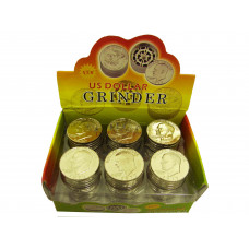 "Grinder Aluminum 1.5"" 3pc With Screen In Coin Design"