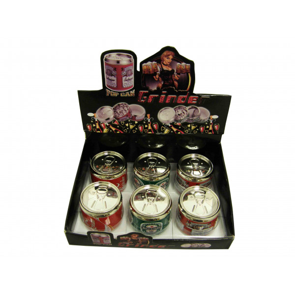 """Grinder Aluminum 2"""" 3pc Beer Can In 3 Asst Styles"""