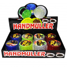 """Grinder Acrylic Bob Marley 3pc 2"""" In Assorted Colors"""