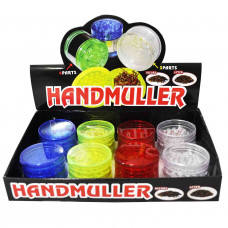 """Grinder Acrylic 3pc 2"""" In Assorted Colors"""