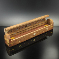 Incense Burner  Moon & Stars Design In Coffin Style