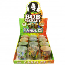 Bob Marley Large Round Shop Glass Candle 12ct/12cs