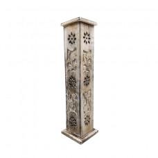 Incense Burner White Tower Coffin Flower