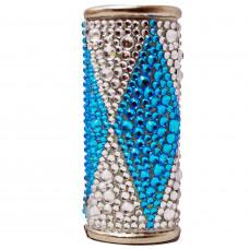 Lighter Case Large Bic Diamonds Square Pink/Blue