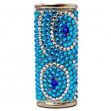 Lighter Case Large Bic Diamonds Blue Mix