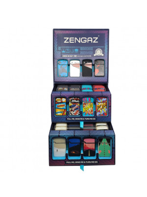 Lighter Zengas Mini Torch Display of 48ct