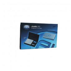 AWS Scale Series 70 x .01g Black