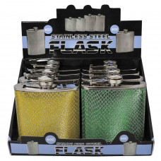 Flask Stainless Steel 6oz In Asst Colors