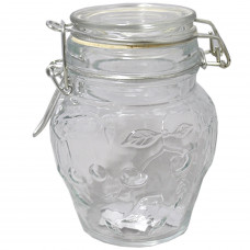 Glass Jar Clear 4.25""