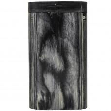"Tobacco Wood Box 3"" Dark Grey Color w/Poker Flip Top Magnet"