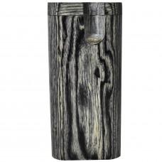 "Tobacco Wood Box 4"" Dark Grey Plain w/Poker"