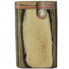 """Tobacco Wood Box 3"""" Wood Color Plain"""