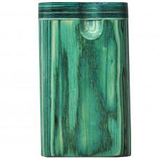 "Tobacco Wood Box 3"" Green Color Plain"