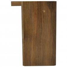 "Tobacco Wood Box 3"" Wood Color Plain Rectangle Shape"