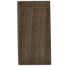 "Tobacco Wood Box 3"" Dark Wood Color Plain Rectangle Shape"