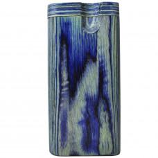 "Tobacco Wood Box 4"" Blue Plain"