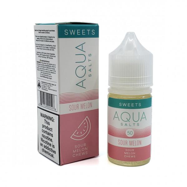 Aqua E-liquid Sour Melon Salt 60ml 50mg Nicotine